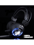 headset with led light headphone