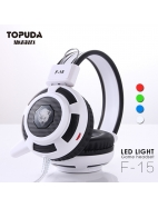Wired headphone with led headset