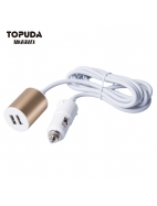 Rear seat car charger for