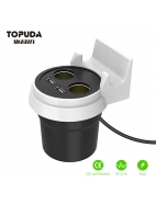 Dual USB Charging Cup Holder