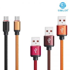 Leather USB Cable Charging Data